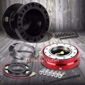 Black Steering Wheel Hub Adapter red Quick Release For 92 95 Integra Dc2 civic
