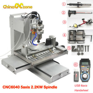 6040 5axis Cnc Router Engraving Machine Pillar Type Metal Copper Milling Machine