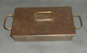 C1915 Antique Medical Surgery Tool Sterilization Tray W Lid Perforated Tray