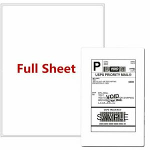 100 2500 Full Sheet Round Corner Shipping Labels 8 5 X 11 Blank Office Premium