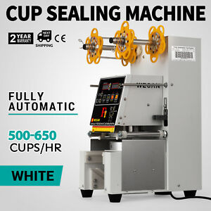 Electric Fully Automatic Cup Sealing Machine 420w Stainless Steel Pet Cups 110v