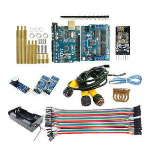 Wifi Control Auto Track Ir Obstacle Avoidance Kit For Arduino Mega2560 Uno