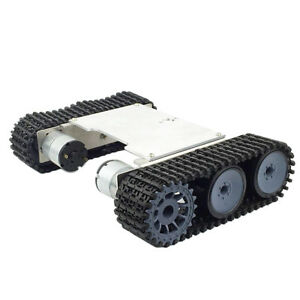 Alloy Strong Motor Tank Car Chassis Track Crawler Kit Diy Robot Science Toy