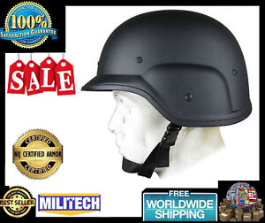 Black New Military Bulletproof Helmet PASGT Level IIIA Army Combat Ballistic
