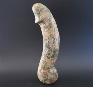 Antique Chinese Hongshan Culture Jade Stone Hand Carved Man Phallic Statue 1348g
