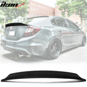 Fits 2012 Honda Civic Sedan Ikon Duckbill V2 Style Rear Trunk Spoiler Unpainted
