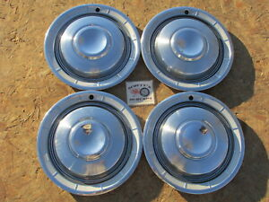 1960 Chrysler New Yorker Town Country 14 Wheel Covers Hubcaps Set Of 4