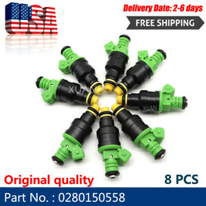 8pcs 0280150558 42lbs Fuel Injectors 440cc Turbo 42 Lb Hr For Gm Ford Mustang