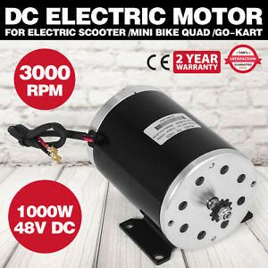 1000w 48v Dc Electric Motor Scooter Bike Ty1020 Mini Bike Go kart Reversible