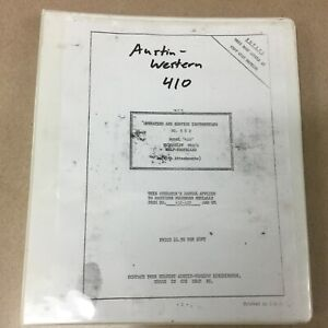 Austin Western 410 Crane Operator Service Manual Operation Maintenance Guide