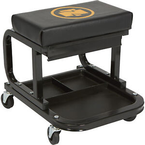 Northern Tool Equipment Mechanic s Roller Seat With Drawer 300lb