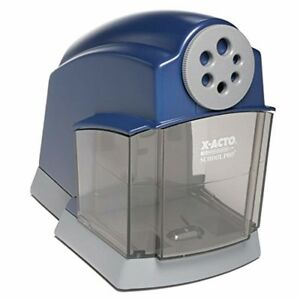 New Heavy Duty Electric Pencil Sharpener Blue School Pro Classroom Quiet Motor