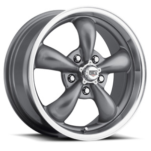 15x7 Gray Torque Thrust Style Wheels 5x4 50 For Classic Ford Mopar Cars