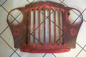 Good Solid Oem 1950 1964 Willys Truck Wagon 1950 1951 Jeepster Nose Grille