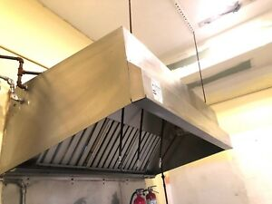 Restaurant Hood System Grease Hood With Fire Suppression System