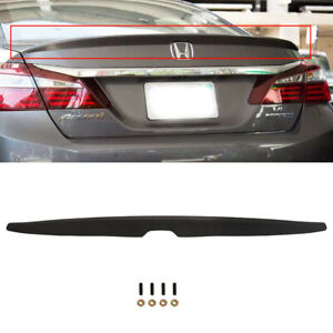 Fits 2008 2012 Honda Accord Abs Unpainted Rear Trunk Spoiler 4dr Matte Black