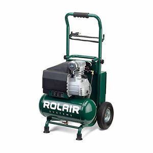 Rolair Vt20tb 3 2 Gallon Electric Wheeled Portable Compressor For Tires