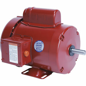 Leeson Farm Duty Electric Motor 3 4 Hp 1725 Rpm 115 208 230 Volts Single Phase
