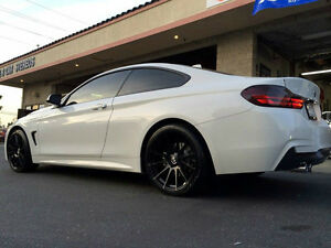 19 Mrr Ground Force Gf6 Black Concave Wheels Rims Fits Bmw F32 428i 435i Coupe