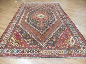 C1930 Vg Dy Antique Qashqai Yalameh Serapi Heriz 5 9x9 4 Estate Sale Rug