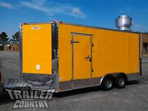 New 2019 8 5x16 8 5 X 16 V nosed Enclosed Concession Food Vending Bbq Trailer