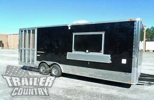 New 8 5 X 24 Enclosed Food Vending Mobile Kitchen Concession Catering Trailer