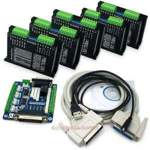 Cnc Router Diy Kit 5 Axis Breakout Board 5x M542 Stepper Motor Driver 1 0a 4 5a