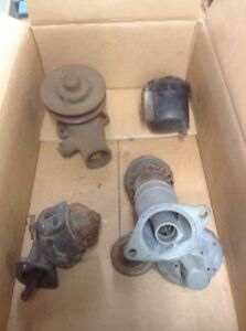 4 Assorted Parts 1933 1936 Ford Flathead V8 Parts Water Pump Oil Breather Etc