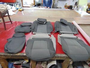 2009 2014 Ford F150 Oem Gray Cloth Seat Covers Headrests Center Console