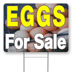 Eggs For Sale 18x24 Inch Sign With Display Options