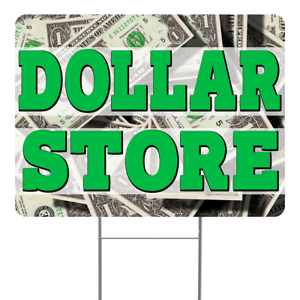 Dollar Store 18x24 Inch Sign With Display Options