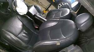 05 08 Bmw Mini Cooper Convertible Black Leather Seat Set Front Rear