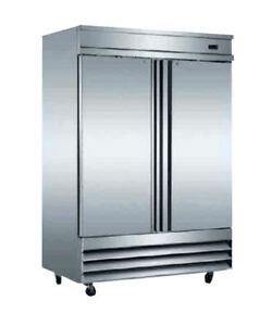 Jimex Corp Ascend Commercial 2 door Stainless Steel Reach In Freezer