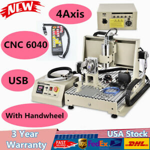 4 Axis Usb Cnc 6040 Router Engraver For Engraving Pcb Wood Pvc Crystal Acrylic