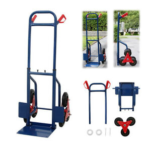 Practical 440lb Stair Climbing Climber Hand Truck Dolly Cart Trolley W 6 Wheels