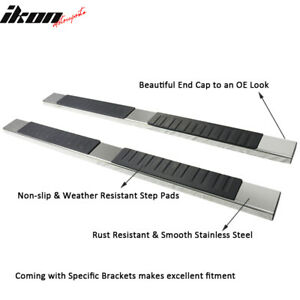 Fits 19 Silverado Sierra Crew Oe Style 6in Ss Side Step Nerf Bar Running Boards
