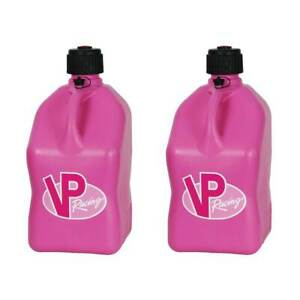 Vp Racing 5 Gallon Motorsport Racing Fuel Utility Jug Gas Can Pink 2 Pack