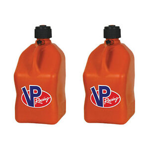 Vp Racing 5 Gallon Motorsport Racing Fuel Utility Jug Gas Can Orange 2 Pack