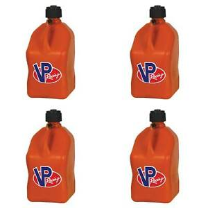 Vp Racing 5 Gallon Motorsport Racing Fuel Utility Jug Gas Can Orange 4 Pack