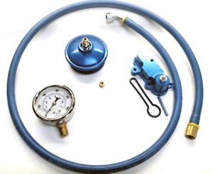 6 0l Ford Powerstroke Adjustable Fuel Pressure Kit Cap Hose Gauge Regulator