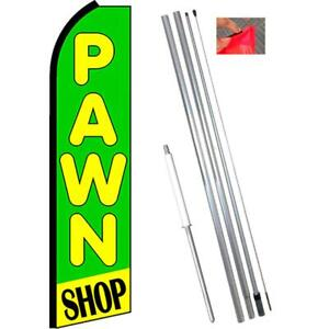 Pawn Shop Flutter Feather Banner Flag With Bundle Option 2 5 X 11 5 Feet