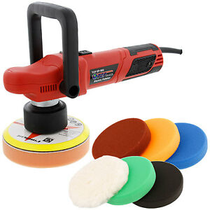 6 Variable Speed Random Orbit Dual Action Polisher 6 Buffing Polishing Pads