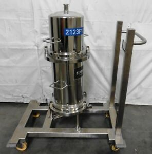 G156091 Stainless Steel 2123f13 Sanitary Filtration Housing W rolling Cart