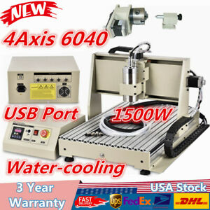 4axis 6040 Cnc Router Engraver For Industry Technology Research Advertising New