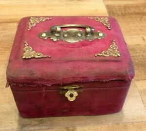 Perfume Bottle Box With Bottles Antique Old Beautiful Brass Work Royal Valvate