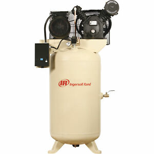 Ingersoll Rand Type 30 Reciprocating Air Compressor 7 5 Hp 200 Volt 3 Phase