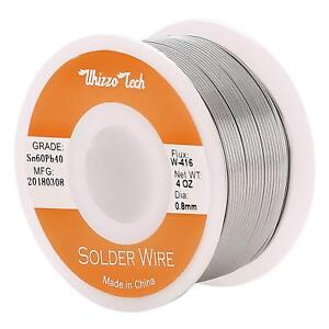 Whizzotech Solder Wire 60 40 Tin lead Sn60pb40 With Flux Rosin Core For Electric