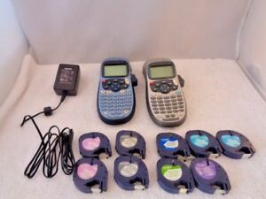Lot 2 Dymo Letratag Personal Label Maker And Power Supply N15243