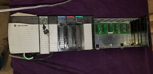 Used Allen Bradley Controllogix 13 Slot Rack With 1756 l61 Plc I o Cards