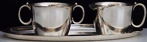 Randahl Sterling Silver Sugar Bowl Creamer With Serving Tray Stamped 42 156